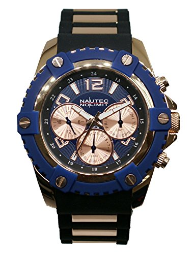 Nautec No Limit Men's Watch Glacier 2 Analogue Quartz Rubber GLAC2/qz/Rbrg/BL