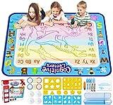 Jasonwell Acqua Doodle Tappeto Colorabile Magico Bambini 100*80cm Acqua Tappetino Scarabocchio Disegno Coloro Gioco Educativi Giochi Regalo Magici per Bambino Bambina di 2 3 4 5 6 7 8 Anni