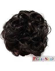 PRETTYSHOP Chouchou queue de cheval postiche extensions de cheveux frisés und volumineux updos différentes couleurs