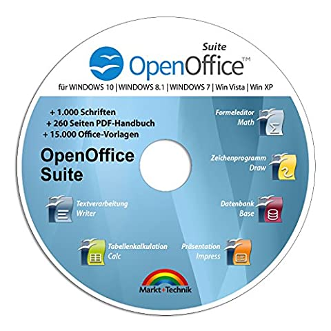 Open Office Suite 2017 Home Student Professional - 100% kompatibel mit Microsoft® Office® Word® und Excel® für Windows