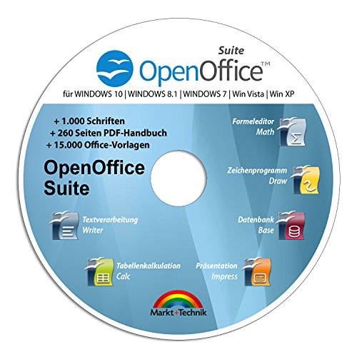 Open Office Suite 2017 Home Student Professional - 100% kompatibel mit Microsoft® Office® Word® und Excel® für Windows 10-8-7-Vista-XP