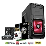Computer Technology Stoke AMD ASUS Super Fast Gaming System - AMD FM2 A4 6300 3.7GHz CPU - NVidia GeForce GT 730 Graphics Video Card - High Performance 8GB 1600MHz DDR3 Memory - Spacious 1TB 1000GB Hard Drive Disk HDD - ASUS A68HM Plus FM2+ Motherboard - Built into a AvP Storm P27 Case with an 80+ Certified PSU