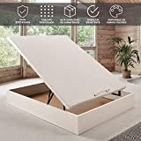 Canapé abatible Wood de Home Medida 135x190 cm Color Blanco