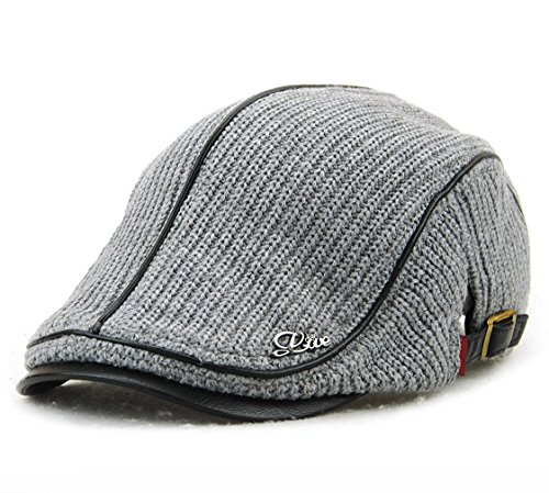 Glatze Mütze Mit Haaren - Kuyou Flatcap Schildmütze Herren Schieber sportcap