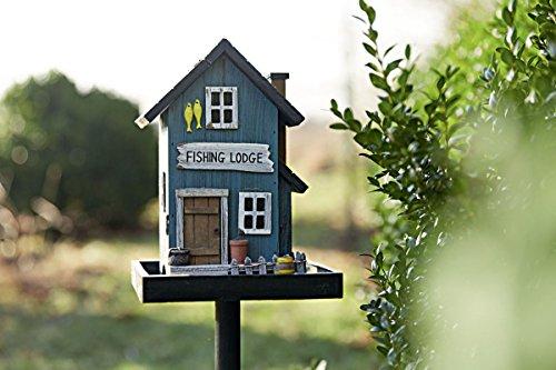 miaVILLA Futterhaus für Vögel – Vogelfutterhaus mit Ständer – Holz – Bunt - 6