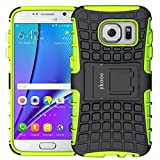 ykooe Galaxy S7 Hülle, Silikon Handyhülle Samsung Galaxy S7 Dual Layer Hybrid Schutzhülle TPU Case für Samsung Galaxy S7 (Grün Ständer)