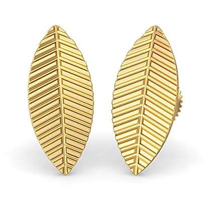 BlueStone 22k (916) Yellow Gold Leaf Stud Earrings