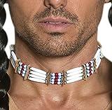 Faschingsfete Karneval Kostüm Accessoire Kette Hals Indianer, Weiß