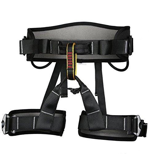 Klettergurte Sicherheitsgurt Baumpfleger mit Einstellbar Taille für Bergsteigen Klettern Outdoor,Schwarz
