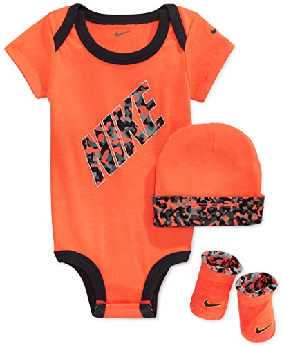 Nike Baby 3-Piece Body, Hat and Booties Set -