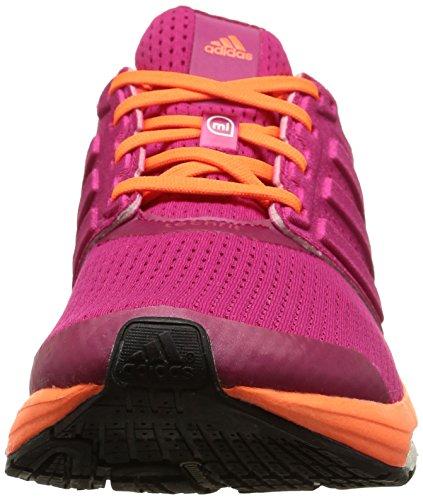 adidas  Supernova Glide Boost 7, Chaussures de course femmes Rose - Pink (Bold Pink/Bold Pink/Solar Orange)