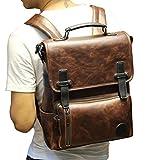 E Support™ Neu Herren Leder Rucksack Messenger Rucksacktasche Vintage Aktentasche Laptop Taschen