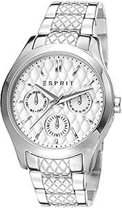 Esprit Elsa ES107912001 - Mouvement Cristal de roche - Affichage Analogique - Bracelet Acier inoxydable Argent et Cadran Argent - Femme