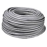 Dreipoliges Stromkabel, Querschnitt: 3x 1,5 cm, Farbe: grau, 100 Meter
