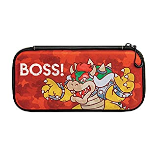 Nintendo Switch Camo Super Mario Bros Bowser Slim Travel Case for Console and Games by PDP, 500-088