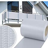 HG® 35mx19cm Sichtschutzfolie Zaunblende Folie PVC Rolle Windschutz für Doppelstab Mattenzaun inkl. Befestigungsclips