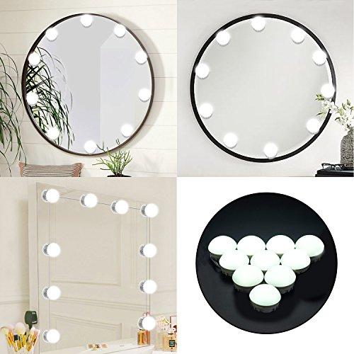 Kosmetikspiegel Lichterkette mit 10dimmbar LED Licht, Hollywood Style Spiegel Make-up Light Kit mit Touch Dimmer, Beleuchtungen Strip für Make-up Tisch (Make-up-tisch Beleuchtung Mit)