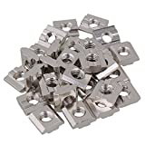 BQLZR - Tasselli a T, color argento, con dadi, scorrevoli e rispondenti alla Norma europea in acciaio carbonio, in alluminio estruso, set di 30 pezzi, argento, BQLZRN22260