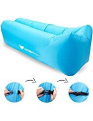 Canapé à Air, icefox Air Sofa Canapé gonflable imperméable à l'eau, canapé à air portable avec sac à main, sac de couchage à l'intérieur de l'air extérieur pour le repos | Camping | Beach | Fishing, ect