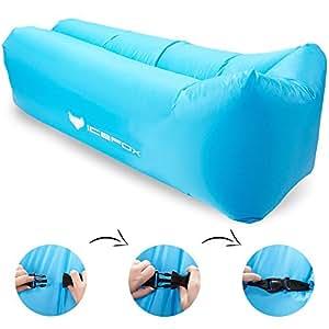 icefox Air Lounger, Wasserdichtes Aufblasbares Luftsofa mit Tragebeutel, zum Schlafen im Freien, im Innenbereich, zum Zurücklehnen und Entspannen, Aufblasbarer Sitzsack für Camping|den Strand| zum Fischen