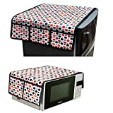 #9: TIB PVC Fridge Cover and Top Microwave Cover Combo, Multi