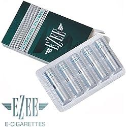 12 filtres pour Ezee Cigarette Électronique rechargeable | Saveur de Menthol | Sans Nicotine ni Tabac | Seulement des filtres