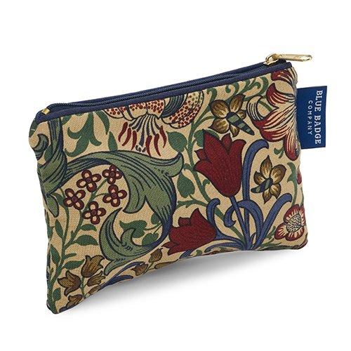 Blue Badge Company Coton rembourré Zip jusqu'à maquillage avec doublure imperméable, petite William Morris Golden Lily Imprimé