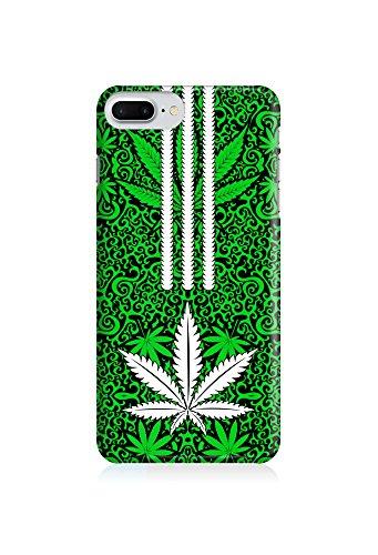 COVER weed Hasch Streifen grün Design Handy Hülle Case 3D-Druck Top-Qualität kratzfest Apple iPhone 7 Plus