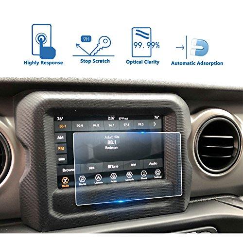 LFOTPP Jeep Wrangler Uconnect 7 Zoll Navigation Schutzfolie - 9H Kratzfest Anti-Fingerprint Panzerglas Displayschutzfolie GPS Navi Folie -