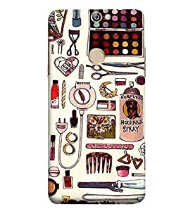 Fuson Designer Phone Back Case Cover Coolpad Max A8 ( A Girl'S Styling Items )