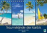 Traumstrände der Karibik (Tischkalender 2019 DIN A5 quer): Karibik: Sehnsüchte in Türkis und Blau (Monatskalender, 14 Seiten ) (CALVENDO Orte)