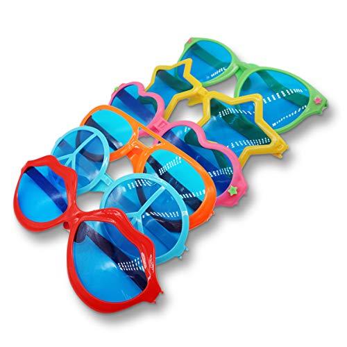 Charakter Kostüm Tanz - KiraKira 6 er Set Partybrille mit , Partybrillen,Gitterbrille für Kinder,perfekte Sunglasses als Kinder-Geburtstag Mitgebsel &Partyset,Sonnenbrille für Kostüm Party Club Tanz Props
