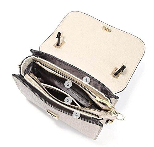 Ledertasche Ledertasche Krokodil Muster Handtasche Schultertasche Messenger Bag Mode Kette Tasche Kleine Quadratische Tasche C