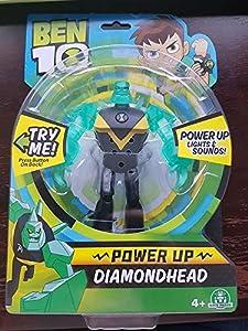 Ben 10- Figuras Deluxe Luz Y Sonidos, Power Up Diamondhead, (Giochi Preziosi Spagna BEN24320)