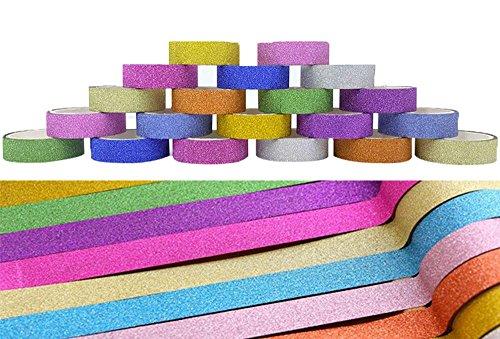 dikete-20x-nastro-glitter-arcobaleno-sticky-carta-colorata-mascheratura-nastro-adesivo-sparkle-nastr