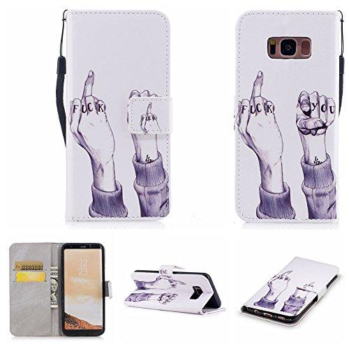 Nancen Samsung Galaxy S8 Plus (6,2 Zoll) Hülle , Magnetverschluss Standfunktion Brieftasche und Karten Slot , Taschen & Schalen (Camo-diamant-ring Rosa)