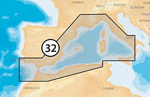 Navionics - Platinum+ - 32P+ Mediterranean West, CF-Karte
