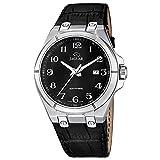 Jaguar uomo-orologio Elegant analog in pelle-braccialetto luenette-orologio quadrante nero UJ666/7