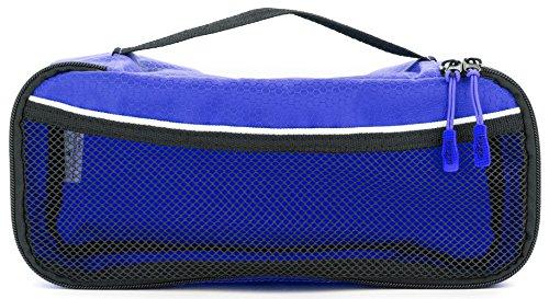 Packwürfel Kleidertaschen Packing cubes Koffertaschen für angenehmes Reisen und aufgeräumte Koffer -Große und mittelgroße Taschen zum Schutz und zur Komprimierung von vielen Kleidungsstücken, Schuhen  Slim-DeepBlue