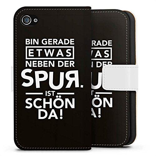 Apple iPhone X Silikon Hülle Case Schutzhülle Party Feiern Sprüche Sideflip Tasche weiß