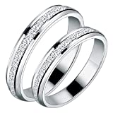 Best Men's Wedding Bands - Peora Stainless Steel Silver Frosted Wedding Anniversary Couple Review