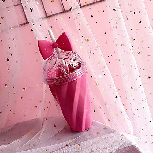 TAOtTAO Lovely Cup 400ml Reizende Strohschale-Kaltes Getränk-Schalen-Plastik mit...