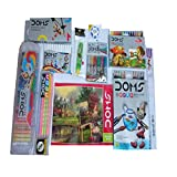 #2: DOMS NEON GROOVE TRIANGLE PENCILS+AQUA WATER COLOUR PENCILS+DRAWING BOOK +25 SHADES OIL PASTELS +GEOMETRY BOX +16 EXTRA LONG WAX CRAYONS +GLITTER (6 SHADES)+30 C.M. Q SCALE +DOMS CHALK HOLDER +DOMS NEON ERASER+ DOMS 12 WATER COLOUR SKETCH PENS+PLASTIC BAG