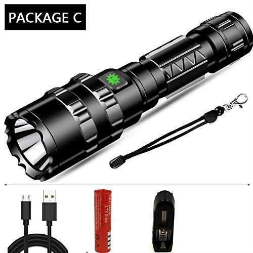 Fnkc Taschenlampe 65000 Lumen Leistungsstarke Taktische Taschenlampe Led Licht Wiederaufladbare Wasserdichte Scout Taschenlampe Jagd Licht 5 Modi Durch 1 * 18650 Option I Option C