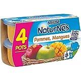 Nestlé Naturnes pommes mangues 4 x 130 g - ( Prix Unitaire ) - Envoi Rapide Et Soignée