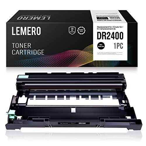 LEMERO Compatibile Tamburo DR2400 DR-2400 per Brother TN-2420 per Brother HL-L2310D HL-L2350DN HL-L2370DN HL-L2375DW DCP-L2510D DCP-L2530DW;MFC-L2710DN MFC-L2730DW MFC-L2750D
