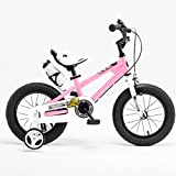 BaoKangShop Bici per bambini Bicicletta bimbo 2-10 anni bicicletta da 12 pollici, 14 pollici, 16 pollici bambino triciclo bici da pilota (Color : Pink, Size : 14 inches)