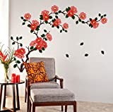 #10: Decals Design 'Floral Branch Antique Flowers' Wall Sticker (PVC Vinyl, 50 cm x 70 cm)