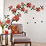 #9: Decals Design 'Floral Branch Antique Flowers' Wall Sticker (PVC Vinyl, 50 cm x 70 cm)