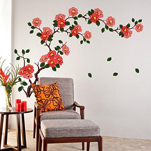 Decals Design 'Floral Branch Antique Flowers' Wall Sticker (PVC Vinyl, 50 cm...